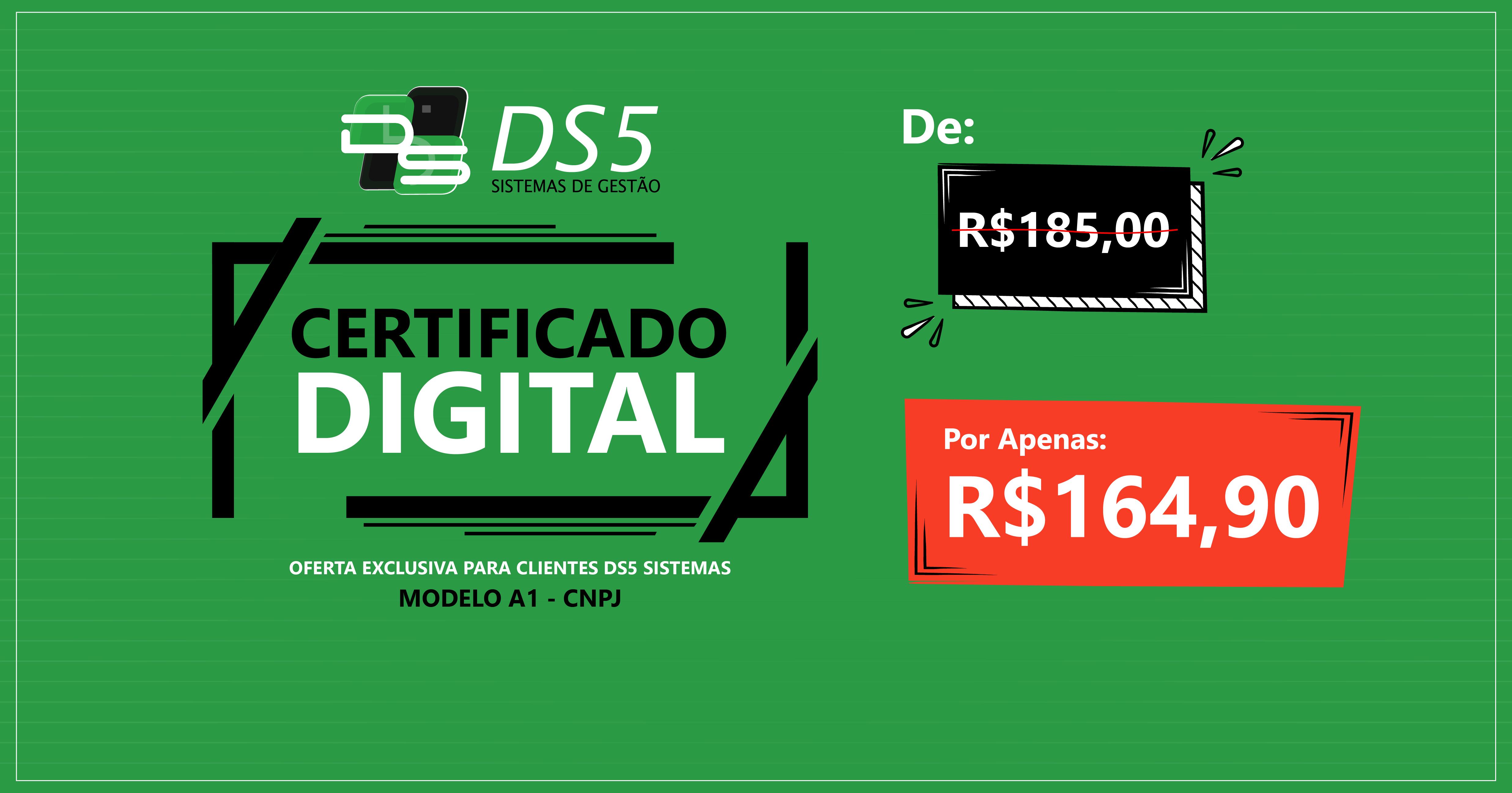 Promoção: Certificado Digital